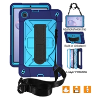 "Galaxy Tab A 10.1"" (2019) (T510/T515) Survivor Case With Hand Strap Blue"