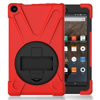 "Galaxy Tab A 10.1"" (2019) (T510/T515) Survivor Case With Hand Strap Red"