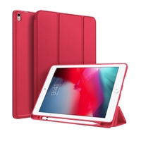 "Galaxy Tab A 10.1"" (2019) (T510/T515) Ultraslim Tri Fold Pen Slot Wallet Case Red"
