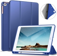 "Galaxy Tab S6 Lite 10.4"" (2020) (P610/P615) Ultraslim Tri Fold Pen Slot Wallet Case Blue"