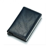 Genuine Leather K01 Smart Single  Layer Card Holder Wallet Black