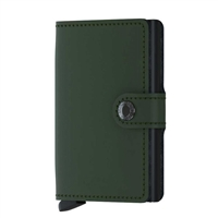 Genuine Leather K01 Smart Single Layer Card Holder Wallet  Green
