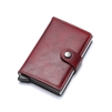 Genuine Leather K01 Smart Single Layer Card Holder Wallet Red