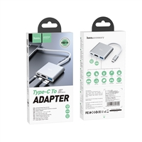 Hoco HB14 Easy Use Type-C to USB3.0+HDMI+PD Converter Silver