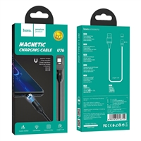 Hoco U76 Fresh Magnetic Type-C Charging Cable Black