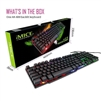 iMICE AK600 3-color Backlight Spalshproof Wired USB Gaming Keyboard Black