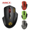 iMICE G-1800 2.4g Ergonomic Silent Wireless Mini Office Mouse  Red
