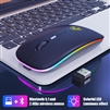 IMICE E-1300 Rechargable Wireless Bluetooth Ultra Slim Mouse White