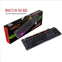 IMICE MK-X80 USB Wired Luminous Lit Mechanical Gaming Keyboard Black