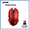 JITE-5001 Adjustable DPI USB Wireless Gaming Mouse Red