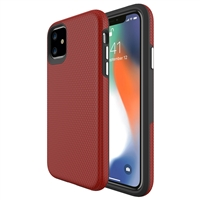 "iPhone 12 Mini (5.4"") Dotted Shockproof Hybrid 2 in 1 Case Red"