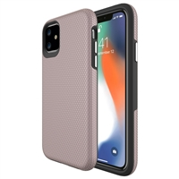 "iPhone 12 Mini (5.4"") Dotted Shockproof Hybrid 2 in 1 Case Rose Gold"