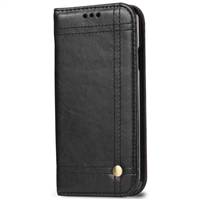 "iPhone 12 Mini (5.4"") Vintage Retro Wallet Case Black"