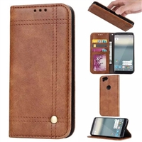 "iPhone 12 Mini (5.4"") Vintage Retro Wallet Case Brown"