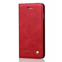 "iPhone 12 Mini (5.4"") Vintage Retro Wallet Case Red"