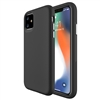 "iPhone 12/ 12 Pro (6.1"") Dotted Shockproof Hybrid 2 in 1 Case Black"