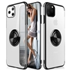 iPhone 11 Pro (5.8 inch) Electroplate Ultra Slim TPU Case With Ring Holder Black
