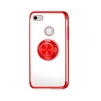iPhone 11 Pro (5.8 inch) Electroplate Ultra Slim TPU Case With Ring Holder Red