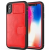 iPhone 11 Pro (5.8 inch) Magnetic Leather Card Holder Case Red
