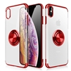 iPhone 11 (6.1 inch) Electroplate Ultra Slim TPU Case With Ring Holder Red