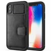 iPhone 11 Pro Max (6.5 inch) Magnetic Leather Card Holder Case Black