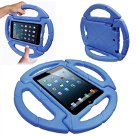 iPad Mini 1/2/3/4/ 5(2019)  Shockproof Kids Steering Wheel Case Blue