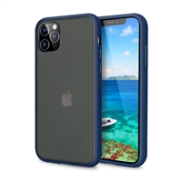 iPhone 11 Pro Max (6.5'' inch) Latest Matte TPU Shockproof Hard Case Navy