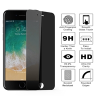 iPhone 6/6S Privacy 3D Full Tempered Glass Black