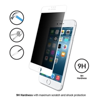 iPhone 6/6S Privacy 3D Full Tempered Glass White