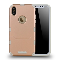 iphone XS/X extra thin 2 in 1 case gold