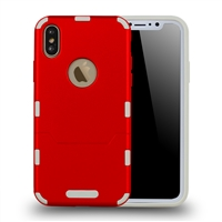 iphone XS/X extra thin 2 in 1 case red