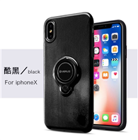iPhone 8/7 Plus Shockproof Case With Ring Holder Black