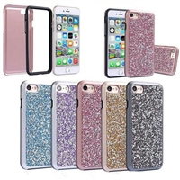 iPhone 8/7/6 Plus Diamond Glitter 2 in 1 Case Green