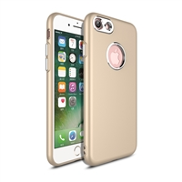iPhone 8/7 Rubber TPU Case with metal key Gold