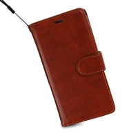 iPhone XS/X Wallet Case Brown