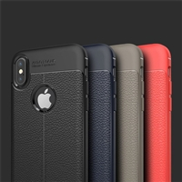 iPhone XS Max Autofocus Shockproof Lichi Gel Case Red