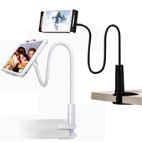 Adjustable 110cm Lazy Clip Phone/Tablet Holder (4.7-7.9) White