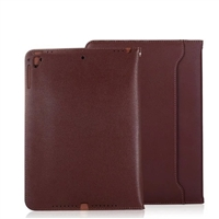 iPad 2/3/4 Sewing Leather Smart Wallet Case brown
