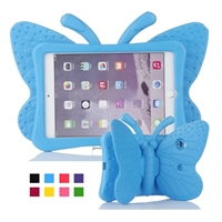 iPad Mini 1/2/3/4/ 5(2019) Shockproof Kids Butterfly Case Blue