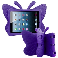 iPad Mini 1/2/3/4/ 5(2019) Shockproof Kids Butterfly Case Purple