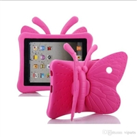 iPad Mini 1/2/3/4/ 5(2019) Shockproof Kids Butterfly Case Rose