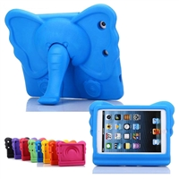 iPad Mini 1/2/3/4/ 5(2019) Kids Shockproof Elephant Case Blue