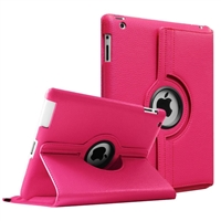 New iPad Pro 12.9'' (2018) 360 Rotation Wallet Case Rose