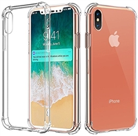 iPhone XS/X Transparent Shockproof Gel Case