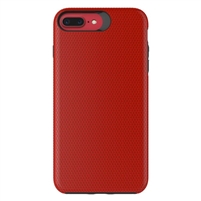 iPhone XS Max Dotted Shockproof Hybrid 2 in 1 Case Red