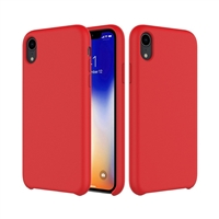 iPhone XS Max Liquid Silicone Red (With Packaging)