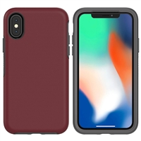 iPhone XS Max Hard Case HeavyDuty Symmetry Design Red