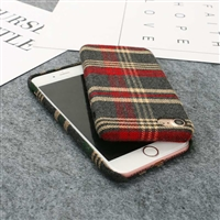 iPhone XS/X Tartan Design Protective Back Case Red