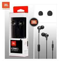 JBL C200Si In-Ear Wired Earphone With Mic Black