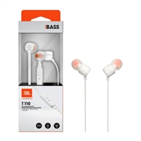JBL T110 In-ear Wired Earphone With Mic White